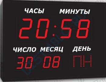 Часы-календарь (для помещения и улицы)